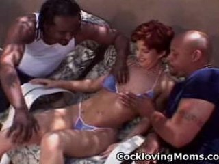 Nasty milf gets a nasty gang...