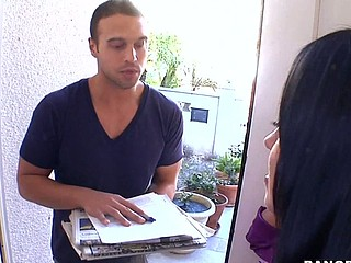 Wouldn't u want to be the door to door sales dude and come across Mariah Milano?!?! That's exactly what happens in this episode of Mother I'd Like To Fuck Soup. The vixen that that babe is causes her to snatch the juvenile 20yr old sales fellow from her door step and drag him to her divan where that babe copulates the living on offer out of him. This Babe tires easy with his rant about what ever that guy was selling and starts to engulf his knob right there in her living room. The 'paper guy' is so entranced with her this guy can't move and this babe pounces. Milfs are awesome!!! Have A Fun!